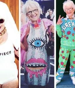 人老心不老! 87歲超潮奶奶,IG追踪者破百萬,成最老網紅!