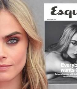 直女gay男都被她折服! Cara Delevingne 全裸登上《Esquire UK》封面