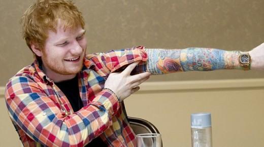 Ed Sheeran講述每一個紋身背後的意義:這個大男孩太可愛!