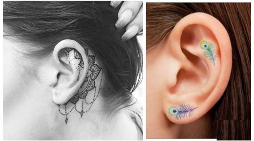 超級酷!最新小清新耳廓紋身火爆Instagram!