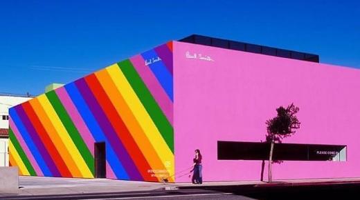 地標性打卡建築誕生!Paul Smith 洛杉磯分店換上 LGBT 彩虹色!